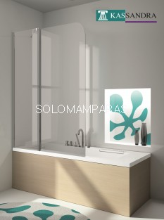 Hoja de bañera -Kassandra- serie 300 (TR563) Fija + abatible de 120cms (Antical Easy Clean)