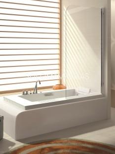 Hoja de bañera -Kassandra- Serie 300 (TR570) perfileria plata alto brillo (Antical Easy Clean)
