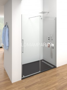 Mampara de ducha -GME- Vetrum (1 fija + 1 corredera)