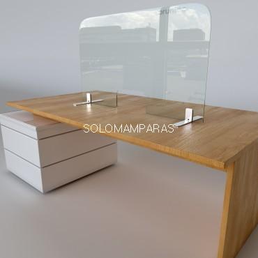 Pantalla de vidrio protectora 5mm CON ventana Protek 2400 (Altura 50, 60, 70 y 80cm)