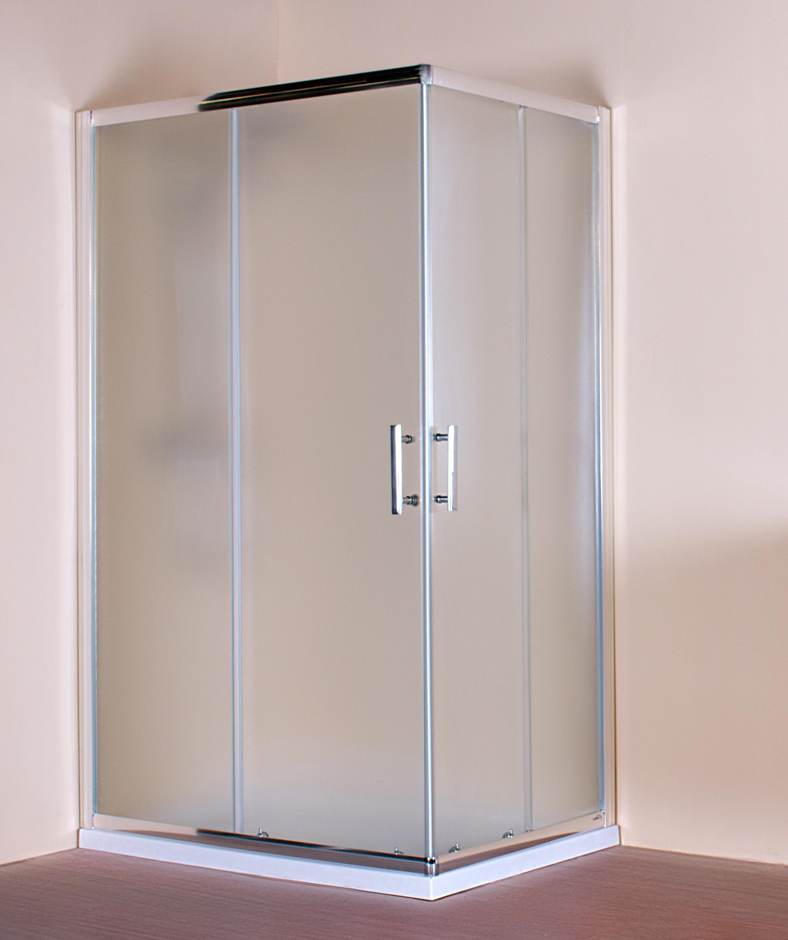 Mampara de ducha tempo box angular de 2 fijas 2 for Mamparas de ducha fijas