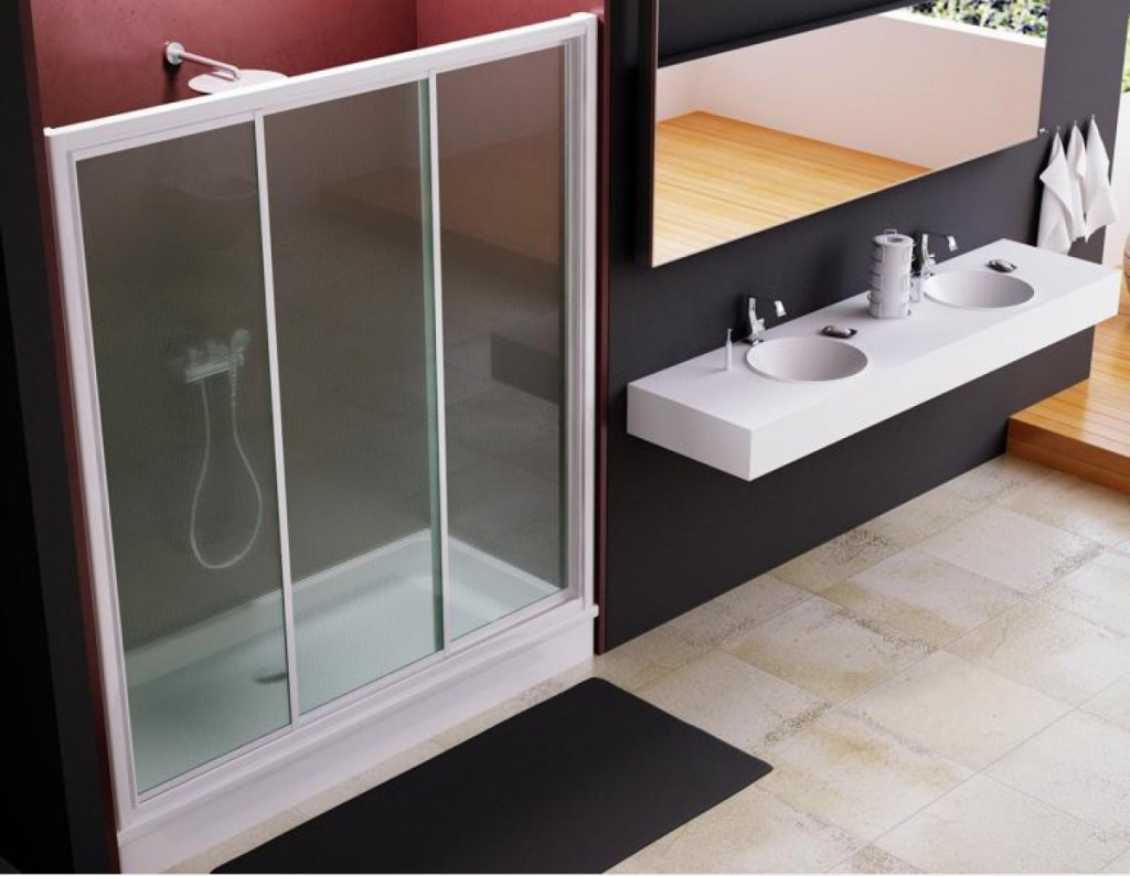 Frontal de ducha modelo Tobago de paneles acrílicos