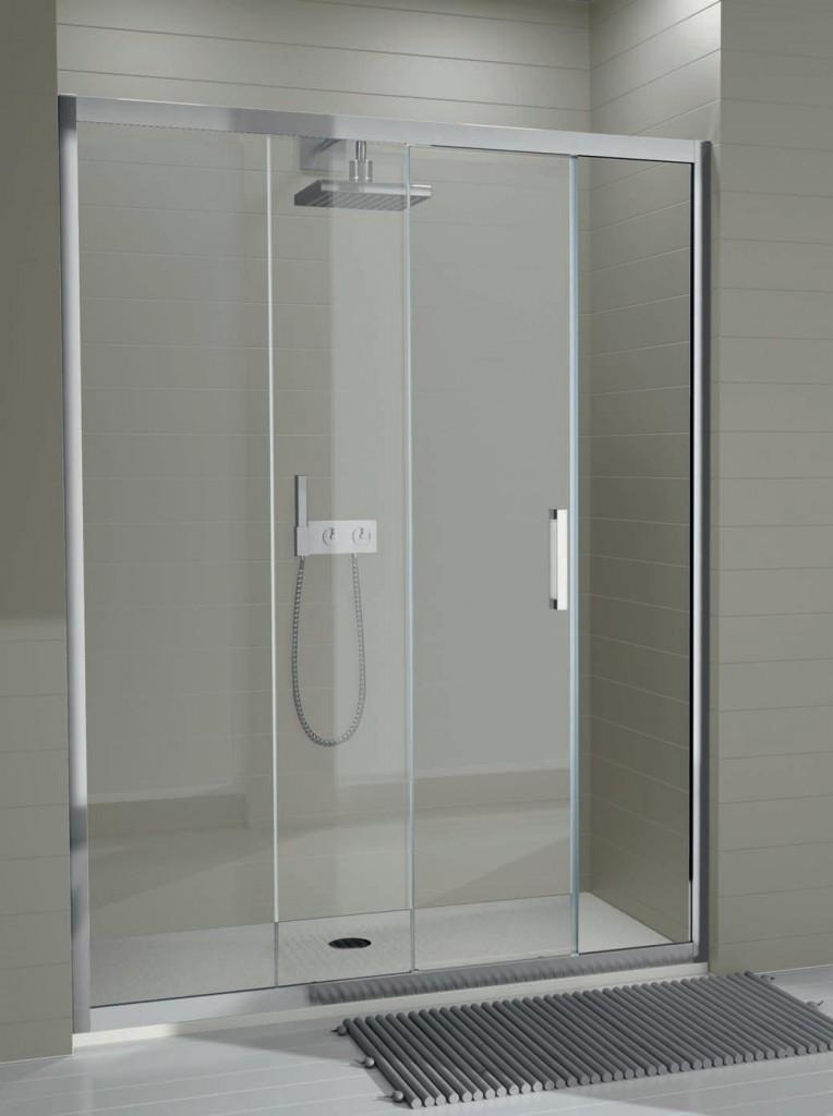 Mampara de ducha serie 300 de kassandra con dos hojas y for Frontal ducha