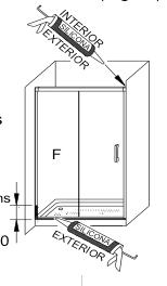 Dibujo sobre el proceso final de sellado con silicona de la mampara