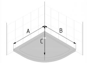 pautas para medir mamparas semicirculares