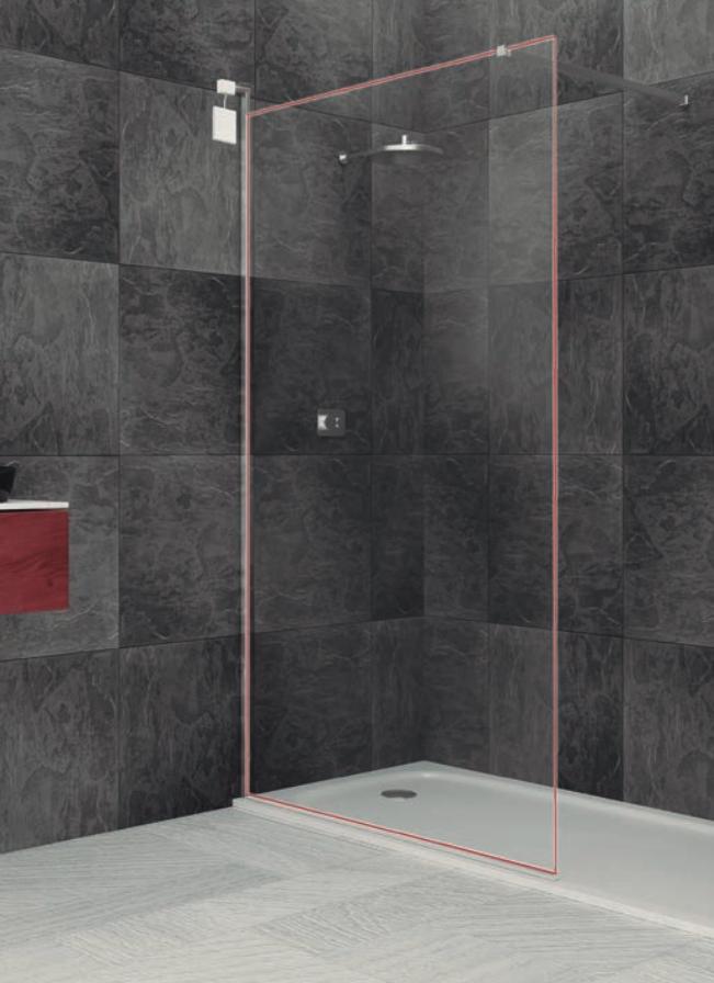 Moderno fijo de ducha con marco luminoso