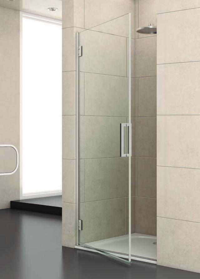 Mampara de baño abatible para ducha de una puerta