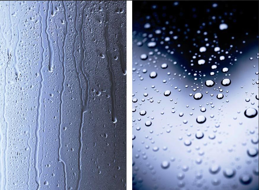 Ejemplo del antes y el después en mamparas de baño con o sin antical