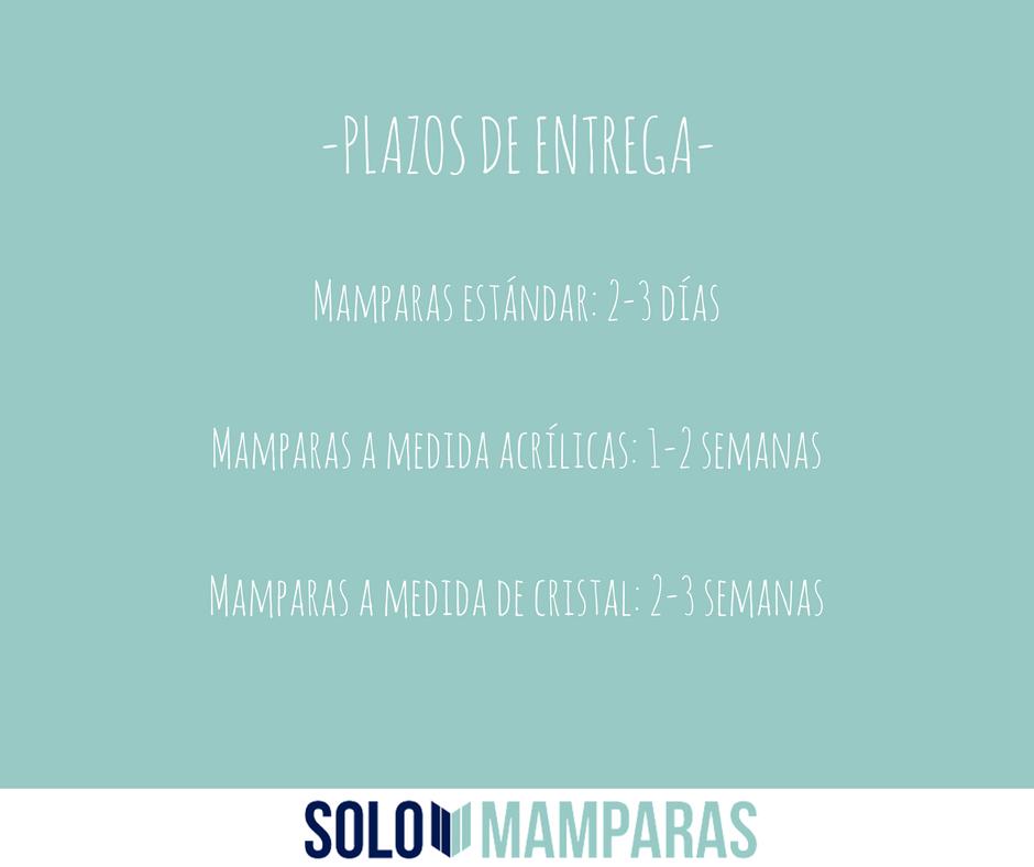 Plazos de entrega de Solomamparas