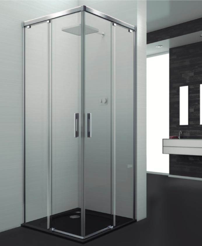 Mampara estándar de ducha de tipo angular Letonia Express
