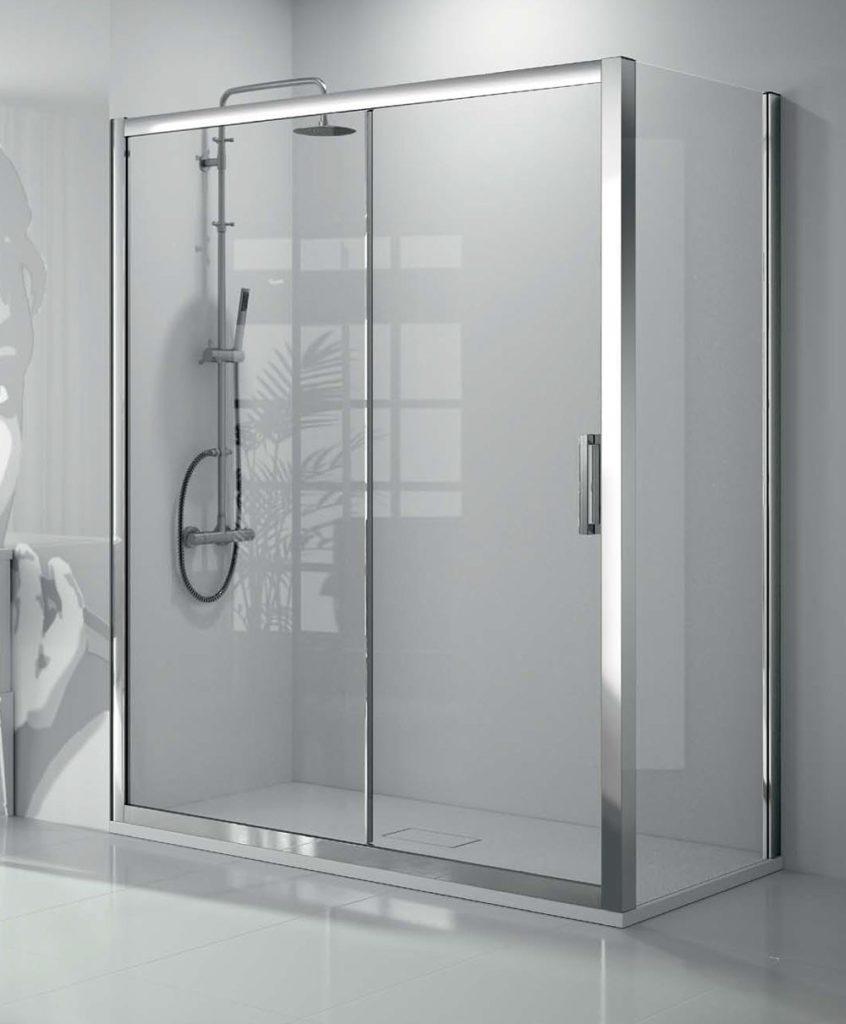 Mampara de ducha corredera Triana con cristal templado de 8 mm