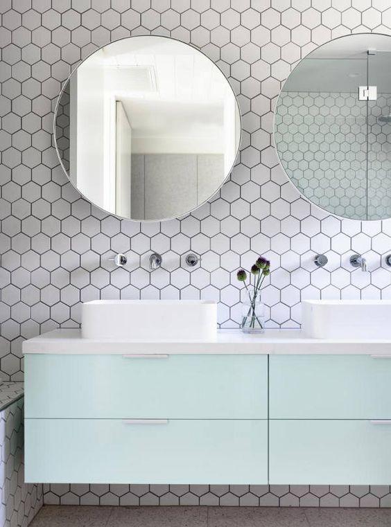 Azulejos para el baño: la geometría es la reina