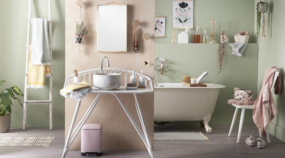 Decoración de baños en tonos pastel