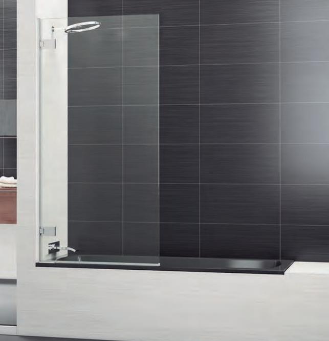 Hoja de bañera abatible minimalista con bisagras ancladas a pared Selecta Sport