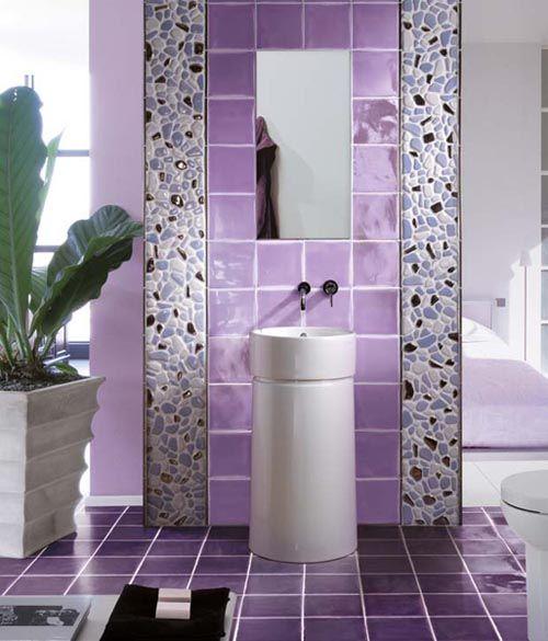 Aseo lavanda con mueble de lavabo apoyado en el suelo