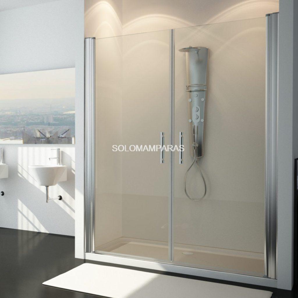 Mampara de ducha de puertas abatibles
