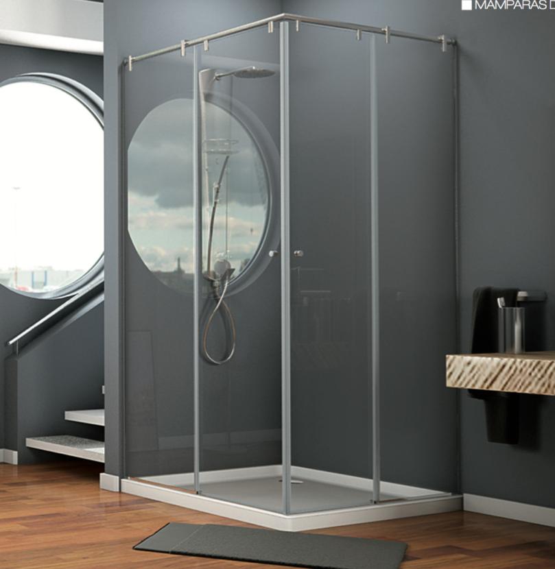 Mampara angular de ducha de apertura corredera VG 40