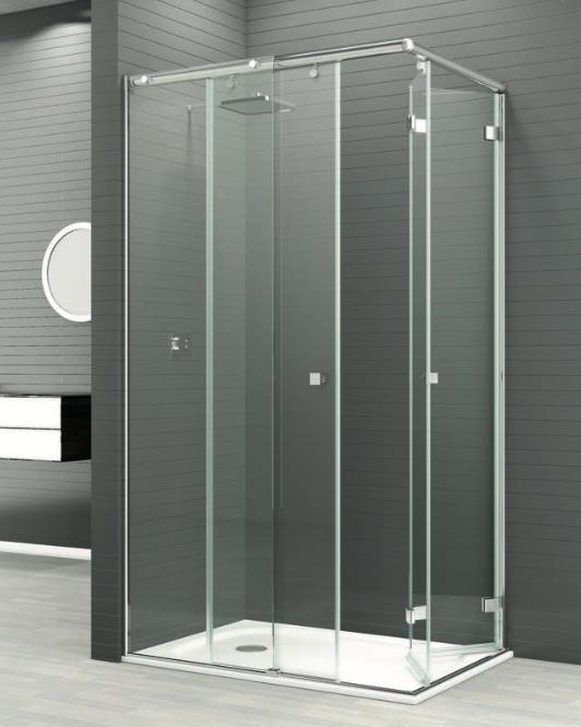 Mampara de ducha Reus medio corredera medio plegable