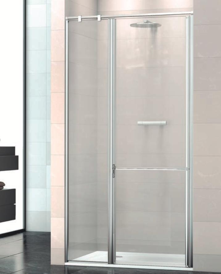 Mampara de ducha frontal Máxima de 2 puertas abatibles