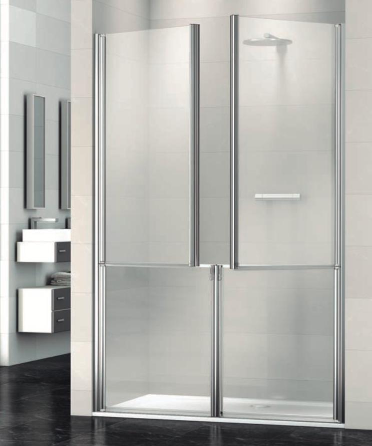 Mampara de ducha adaptada Máxima con dos dobles puertas