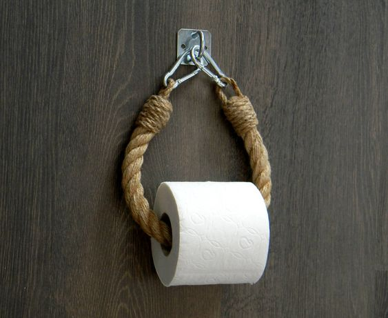 Soporte papel higiénico con cuerda