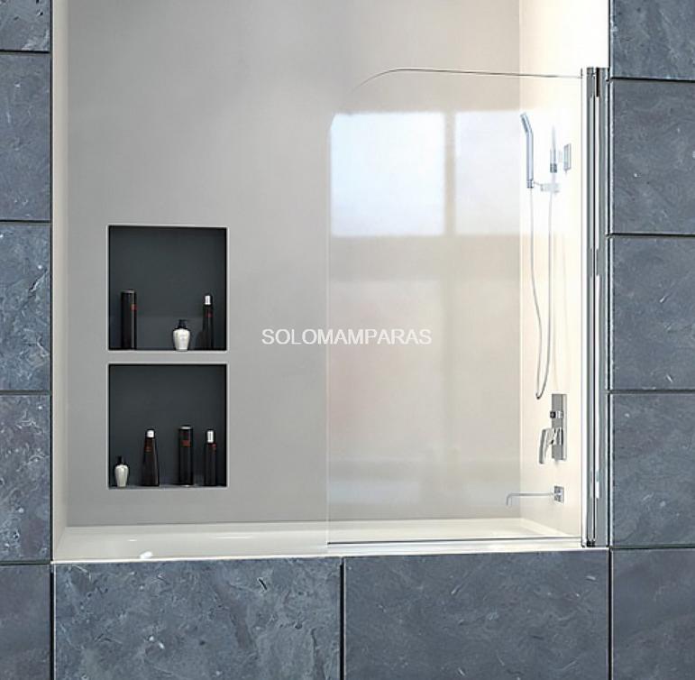 Mampara de bañera abierta de vidrio transparente Bombay