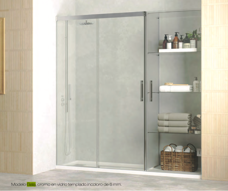 Las bondades de las mamparas de ducha con armario